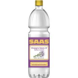 Vinaigre alcool blanc arômatisé lavande, SAAS, bouteille de 100cl