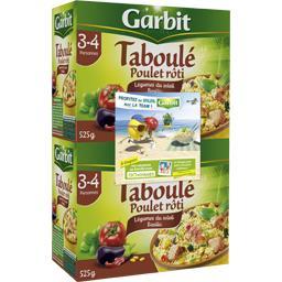 Garbit Taboulé poulet rôti légumes du soleil les 2 boites de 525 g