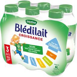 Blédilait Croissance - Lait de suite liquide 3, de 1...