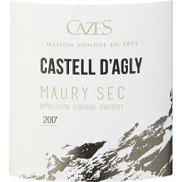 Maury Sec Castell d'Agly Maury Sec vin Rouge 2016