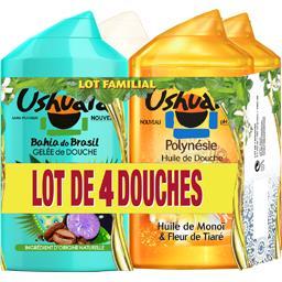 Ushuaïa Assortiment huile de douche/gelée de douche et douch... les 4 flacons de 250 ml