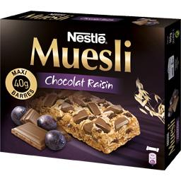 Barre muesli chocolat raisin