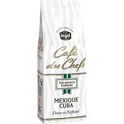 Café des chefs, café moulu pur arabica, Mexique Cuba, doux et parfumé
