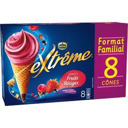 Nestlé Extrême Cônes sorbet fruits rouges