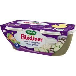 Blédîner - Méli mélo de courgettes et aubergines riz...