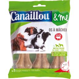 Canaillou & Me - Os à mâcher 100% bœuf le sachet de 3 - 270 g