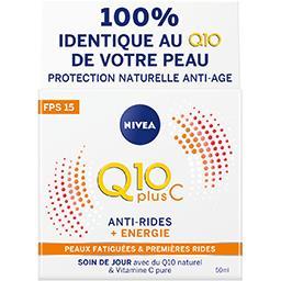 Crème d'énergie jour Q10 Plus anti-rides FPS 15