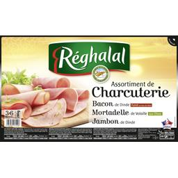 Assortiment de charcuteries bacon, mortadelle & jambon halal
