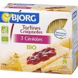 Tartines craquantes 3 céréales bio