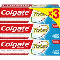 Colgate Total - Dentifrice action visible