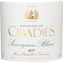 d'Oc Dne Cibadies Cuvée Pégase Sauvignon vin Blanc sec 2017