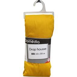 Drap housse 160x200 cm moutarde