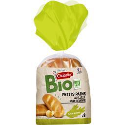 Chabrior Pains au lait pur beurre BIO le paquet de 8 - 280 g