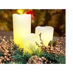 Bougies LED blanc chaud