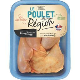 2 filets + 2 cuisses de poulet