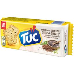 Tuc - Biscuits crackers graines & ciboulette