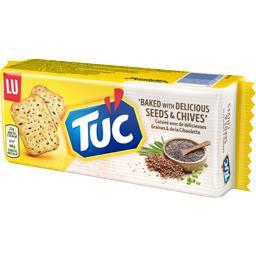 LU Tuc - Biscuits crackers graines & ciboulette le paquet de 105 g