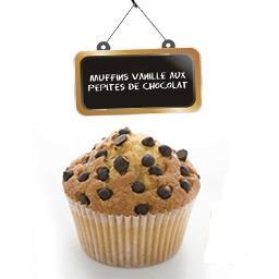 Muffins vanille aux pépites de chocolat