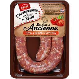 Charcuteries du Don - Saucisse à l'ancienne thym & tomates