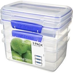 Boites alimentaires rectangulaires à clips 1 l