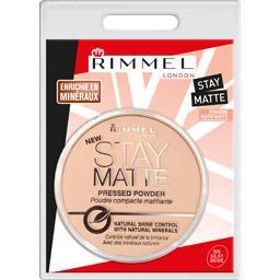 Rimmel London Stay Matte - Poudre compacte matifiante longue durée...