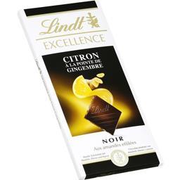 Lindt Excellence - Chocolat noir citron à la pointe de gin... la tablette de 100 g
