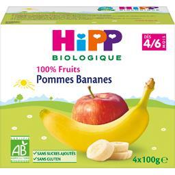 100% Fruits - Pommes bananes BIO, dès 4/6 mois