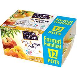 Charles & Alice Spécialité de pommes mirabelles sans sucres ajoutés