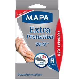 Mapa - Gants de Ménage Extra Protection - 60 gants fins - Taille 7/M