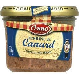 Sauternes Onno Terrine de canard cuisinée au