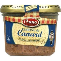 Terrine de canard cuisinée au Sauternes