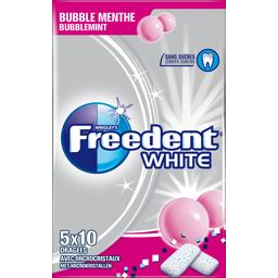 White - Chewing-gum Bubble menthe sans sucres