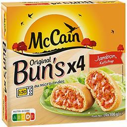 Original Bun's jambon ketchup