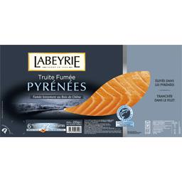 Labeyrie Truite fumée des Pyrénées le paquet de 6 tranches - 220 g