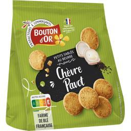 Bouton d'Or Les Petits Sablés au beurre chèvre & pavot le paquet de 120 g