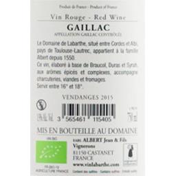 Vin gaillac Labarthe rouge BIO