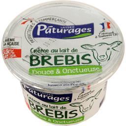 Pâturages Crème au lait de brebis le pot de 20 cl