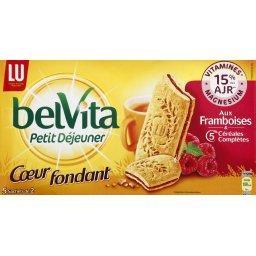 Belvita Petit Déjeuner - Cœur fondant aux framboises & céréales complètes
