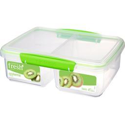 Boite alimentaire rect à 2 compartiments Fresh grande taille