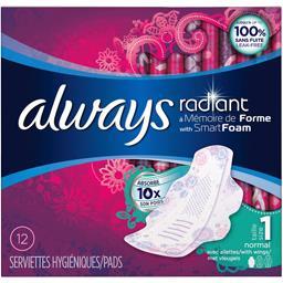 Serviettes hygiéniques Radiant normal taille 1