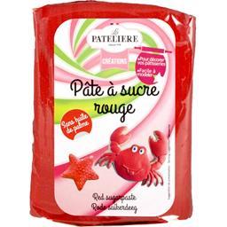 La Patelière Créations - Pâte à sucre rouge le paquet de 250 g
