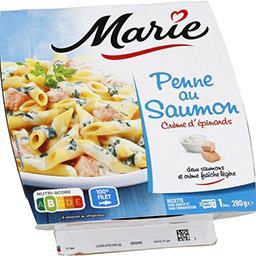 Marie Penne au saumon crème d'épinards
