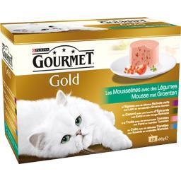 Gold - Les Mousselines avec des légumes pour chats