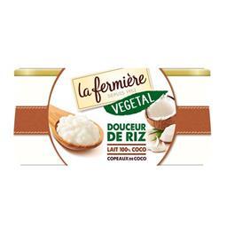 Végétal - Dessert douceur riz lait 100% coco copeaux coco