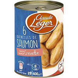Quenelles de saumon sauce saveur crevette