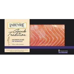 Labeyrie Saumon fumé de Norvège Grande Tradition la barquette de 8 tranches - 290 g