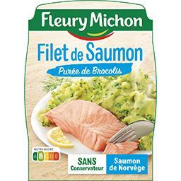 Filet de saumon & purée aux brocolis