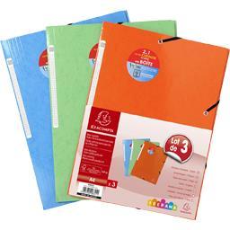 Chemises à élastiques 3 rabats 240X320 coloris assor...