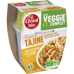 Plat Veggie & Complet - Boulghour soja sauce Tajine BIO