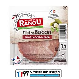 Filet de bacon fumé au bois de hêtre
